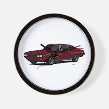 1970 GTO Judge Burgundy Wall Clock