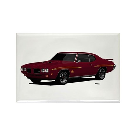 1970 GTO Judge Burgundy Rectangle Magnet