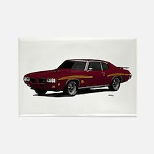 1970 GTO Judge Burgundy Rectangle Magnet