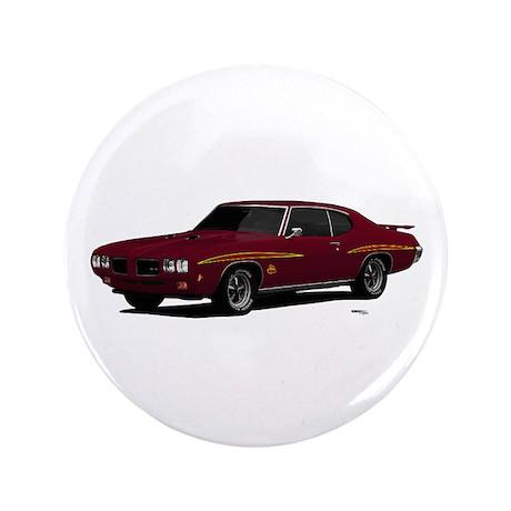 "1970 GTO Judge Burgundy 3.5"" Button"
