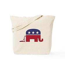 Elephant Pooing Donkey Tote Bag