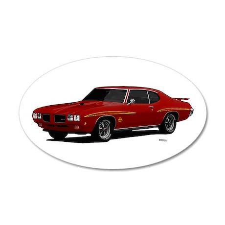 1970 GTO Judge Cardinal Red 22x14 Oval Wall Peel