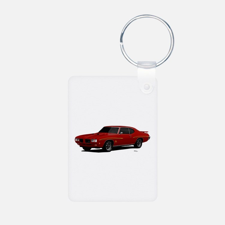 1970 GTO Judge Cardinal Red Keychains
