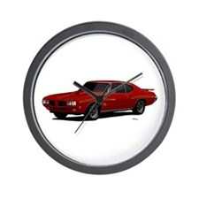 1970 GTO Judge Cardinal Red Wall Clock