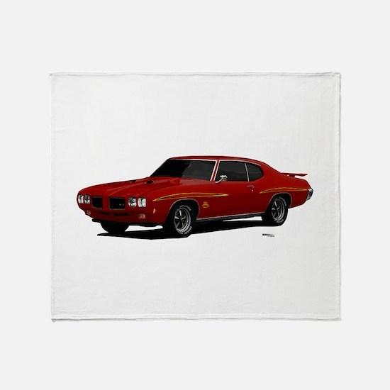 1970 GTO Judge Cardinal Red Throw Blanket