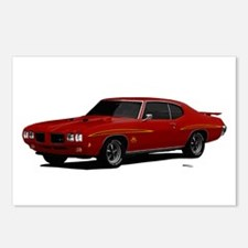 1970 GTO Judge Cardinal Red Postcards (Package of