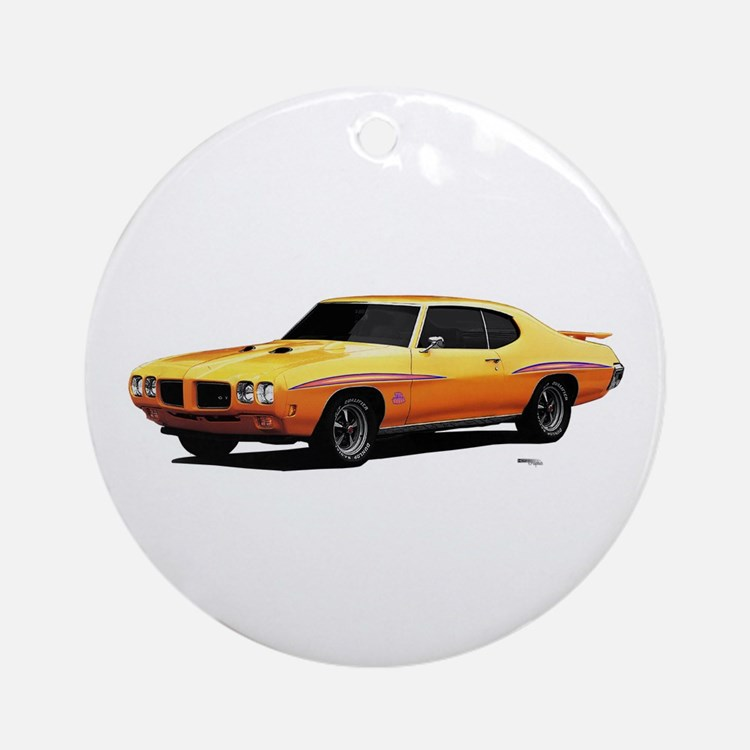 1970 GTO Judge Orbit Orange Ornament (Round)