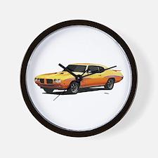 1970 GTO Judge Orbit Orange Wall Clock