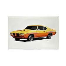 1970 GTO Judge Orbit Orange Rectangle Magnet
