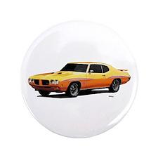 "1970 GTO Judge Orbit Orange 3.5"" Button"