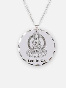 Vintage Buddha Let It Go Necklace