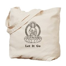 Vintage Buddha Let It Go Tote Bag