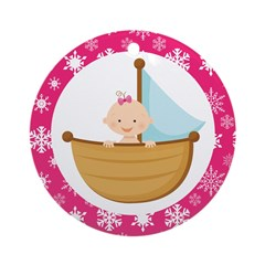Baby Girl in a boat Christmas Ornament