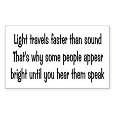 Light Travels Faster Rectangle Decal