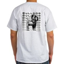 Urban Bulldog Back Ash Grey T-Shirt