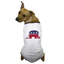 Republican Elephant Pooing Democrat Donkey Dog T-S