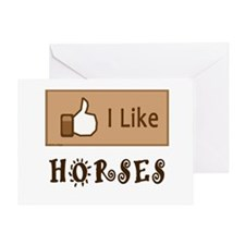 I Like Horses Greeting Card