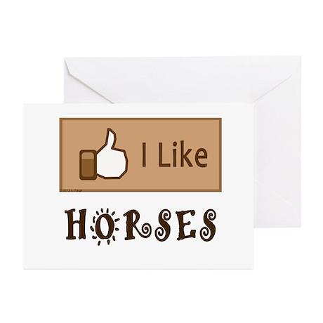I Like Horses Greeting Cards (Pk of 10)