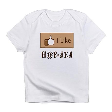 I Like Horses Infant T-Shirt
