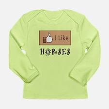 I Like Horses Long Sleeve Infant T-Shirt