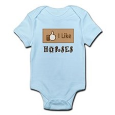 I Like Horses Infant Bodysuit