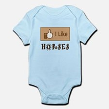 I Like Horses Infant Bodysuit