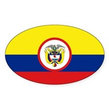 Colombia Presidential Flag Oval Decal