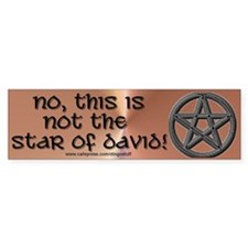 """Not the Star of David"" Bumper Car Sticker"