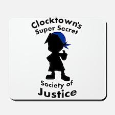Clocktown Bomber Blue Mousepad