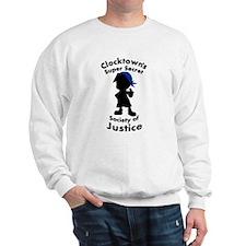 Clocktown Bomber Blue Sweatshirt
