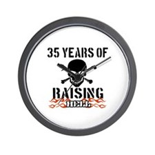 35 Years of Raising Hell Wall Clock