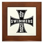 Long Course Swimmers Framed Tile