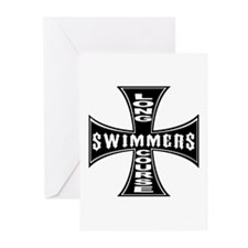 Long Course Swimmers Greeting Cards (Pk of 10)