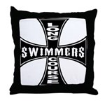 Long Course Swimmers Throw Pillow
