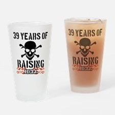 39 Years of Raising Hell Drinking Glass
