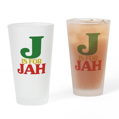 J is for Jah Drinking Glass