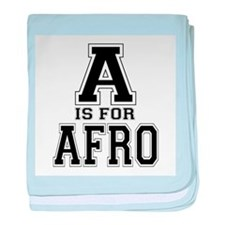 A is for Afro baby blanket