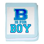 B is for Boy baby blanket