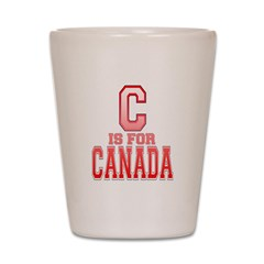 C is for Canada Shot Glass
