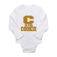 C is for Cookie Long Sleeve Infant Bodysuit