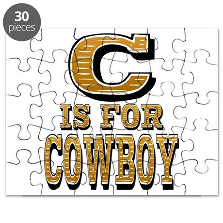 C is for Cowboy Puzzle