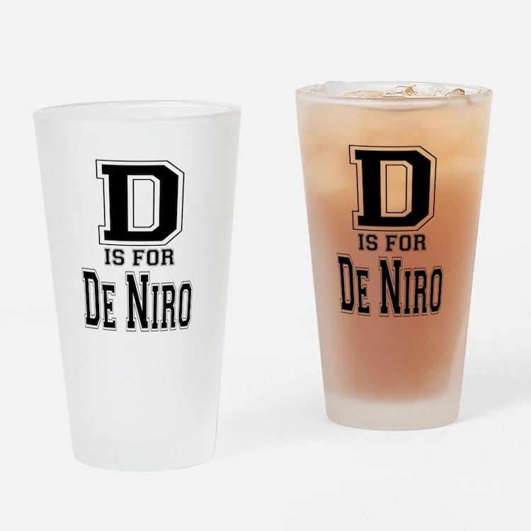 D is for De Niro Drinking Glass