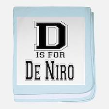 D is for De Niro baby blanket
