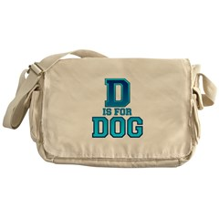D is for Dog Messenger Bag