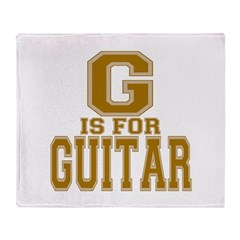 G is for Guitar Throw Blanket