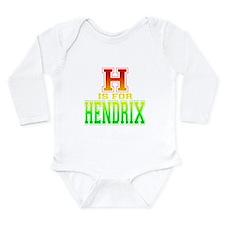 H is for Hendrix Long Sleeve Infant Bodysuit