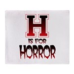 H is for Horror Throw Blanket