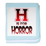 H is for Horror baby blanket