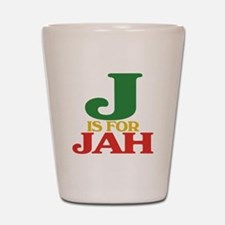 J is for Jah Shot Glass