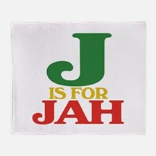 J is for Jah Throw Blanket
